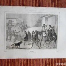 Arte: 1832-MATRIMONIO SARDO. ISLA SARDEGNA.CERDEÑA.ITALIA. GRABADO ORIGINAL. Lote 222489455