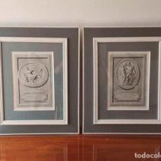 Arte: 2 GRABADOS CLÁSICOS ENMARCADOS SIGLO XVIII. Lote 137215758
