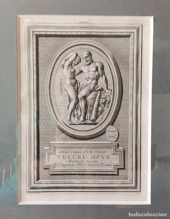 Arte: 2 Grabados Clásicos Enmarcados Siglo XVIII - Foto 4 - 137215758