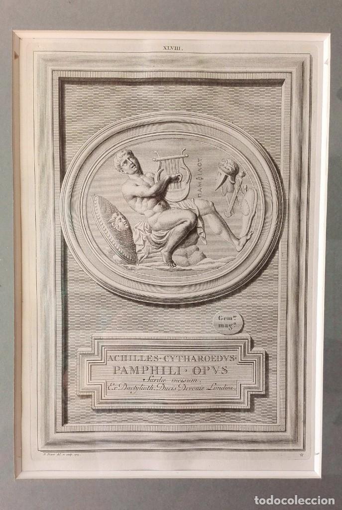 Arte: 2 Grabados Clásicos Enmarcados Siglo XVIII - Foto 5 - 137215758