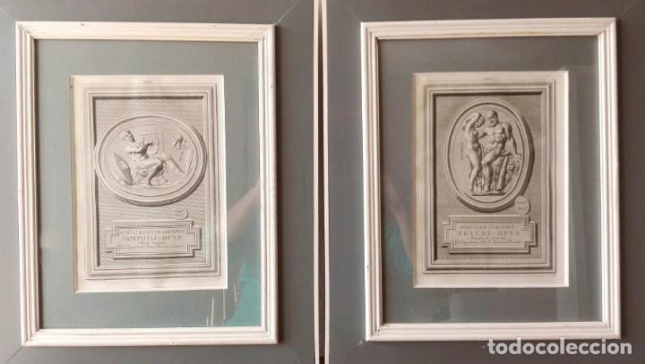 Arte: 2 Grabados Clásicos Enmarcados Siglo XVIII - Foto 7 - 137215758