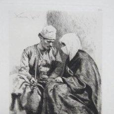 Kunst: GRAN GRABADO EN PLANCHA DE COBRE DE THEODOR AMAN (1831-1891) CON MARCA DE AGUA Y FIRMADO. Lote 137385154