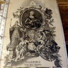 Arte: MASONERIA, GRABADO DEL SIGLO XVIII, RETRATO DE JOSE II DE HABSBURGO, ARCHIDUQUE DE AUSTRIA Y FUTURO . Lote 137436846