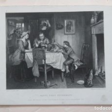 Arte: GRABADO EN MEZZOTINTA SOBRE OBRA DE MARCUS C. STONE (1840-1921) POR HERBERT BOURNE (XIX) 1870. Lote 137484438