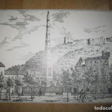 Arte: GRABADO-ILUSTRACIÓN PLAZA DE LA MERCED. MÁLAGA. Lote 137533314