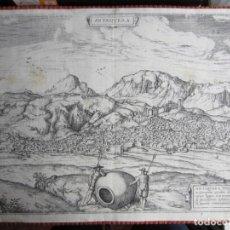 Arte: 1575-ANTEQUERA. MÁLAGA. GRABADO ORIGINAL DE BRAUN-HOGENBERG. MUY GRANDE. EXCEPCIONAL. Lote 137562482