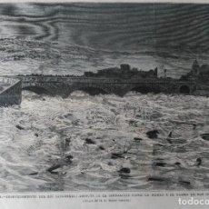 Arte: LORCA (MURCIA) DESBORDAMIENTO DEL RIO SANGONERA POR EL BARRIO DE SAN CRISTOBAL. (1879). Lote 137664418