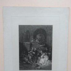 Arte: GRABADO EN MEZZOTINTA SOBRE OBRA DE GEORGE CATTERMOLE(1800-1868) POR CHARLES GEORGE LEWIS(1808-1880). Lote 137716822