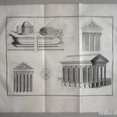 Arte: DISTINTOS TIPOS DE ANTIGOS TEMPLOS CLÁSICOS, HACIA 1722. B. MONTFAUCON. Lote 137769270