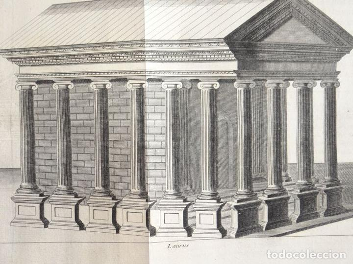 Arte: Distintos tipos de antigos templos clásicos, hacia 1722. B. Montfaucon - Foto 3 - 137769270