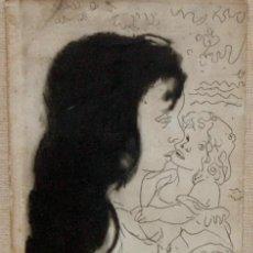 Arte: PERE CRÉIXAMS I PICÓ (BARCELONA, 1893 - 1965) GRABADO ORIGINAL FECHADO DEL AÑO 1950. MATERNIDAD. Lote 137816882