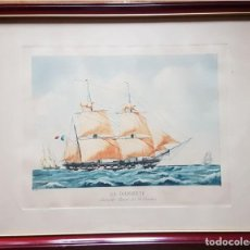 Arte: GRABADO: CORVETA LA DILIGENTE, 56 CM X 44 CM. Lote 137838942