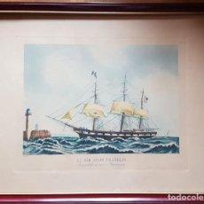 Arte: GRABADO: LE SIR JOHN FRANKLIN, 56 CM X 44 CM. Lote 137846146