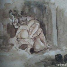 Arte: GRABADO DE EUGENIO DIAZ VELAZQUEZ. Lote 138107010