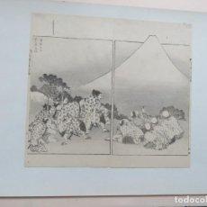 Arte: MAGNIFICO GRABADO EN DIPTICO ORIGINAL DEL MAESTRO HOKUSAI (1760-1849) FIRMADO A MANO, MONTE FUJI. Lote 138191838