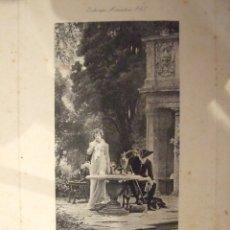 Arte: DEMANDE ATTENDUE - ESTAMPE MINIATURE Nº 43 - MARCUS STONE - EDITOR BOUSSOD VALADON C. 1850. Lote 138270414