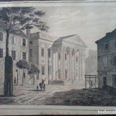 Arte: 1837 -GIRARD BANK BUILDING-PHILADELPHIA.BANCO.ESTADOS UNIDOS.GRABADO ORIGINAL. Lote 138287834