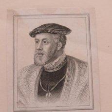 Arte: PRECIOSO GRABADO EN PLANCHA DE COBRE DEL RETRATO DE CARLOS V POR R.COOPER, ALREDEDOR DE 1770. Lote 138546738