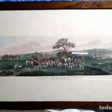 Arte: LA CAZA DEL ZORRO EN INGLATERRA. PAINTING BY DEAN WOLSTENHOLME. Lote 138680562