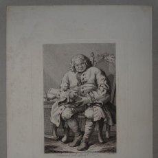 Arte: GRABADO EN PLANCHA DE COBRE SOBRE OBRA DE WILLIAM HOGARTH (1697-1764) SIMON LORD LOVAT, EN 1750. Lote 139095438