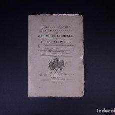 Arte: GALERIE DE FLORENCE ET DU PALAIS PITTI 1792. Lote 139101234