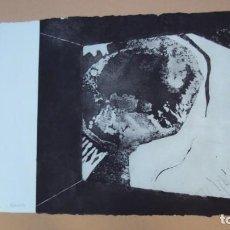 Arte: GRABADO DE ARTISTA MEJICANO, FIRMADO Y NUMERADO. Lote 139199758
