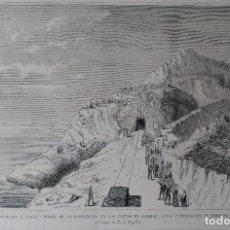 Arte: FERROCARRIL DE BARCELONA A VALLS - TÚNEL DE LA FALCONERA (1880). Lote 139227482