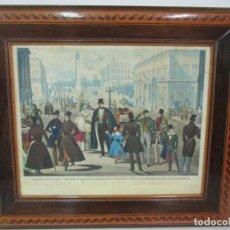 Arte: GRABADO DE MODA - VIEW CARLTON TERRACE NEAR YORK PILLAR LONDON - BONITO MARCO - AÑOS 1837-38. Lote 139325314