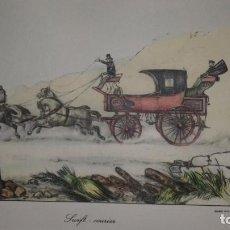 Arte: GRABADO 1851. VICTOR J ADAM. SWIFT COURIER. LONDON. ENMARCADO. Lote 139447214