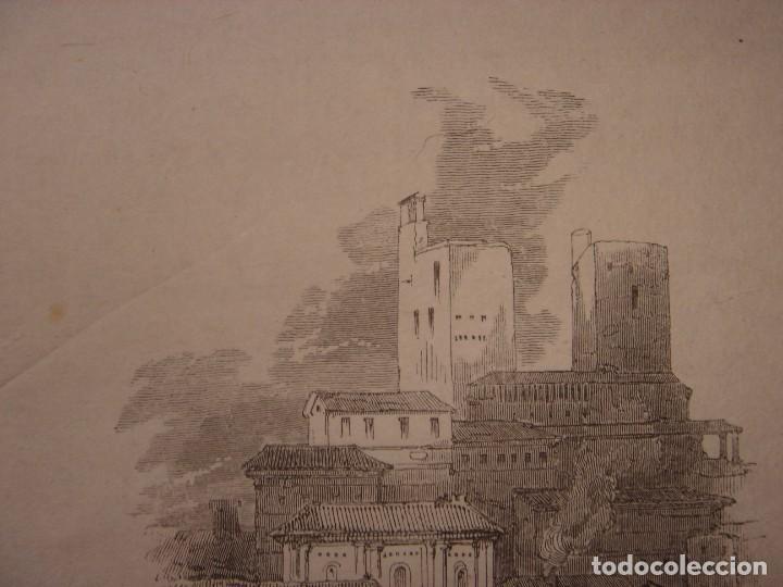 Arte: INFRECUENTE XILOGRAFÍA TORRE VELA, ALHAMBRA, GRANADA, ORIGINAL, 1835, DAVID ROBERTS, 1ªEDICIÓN. - Foto 3 - 139610182