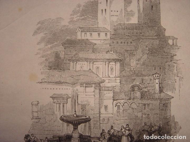 Arte: INFRECUENTE XILOGRAFÍA TORRE VELA, ALHAMBRA, GRANADA, ORIGINAL, 1835, DAVID ROBERTS, 1ªEDICIÓN. - Foto 4 - 139610182