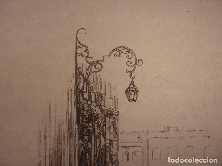 Arte: INFRECUENTE XILOGRAFÍA PLAZA BIRRAMBLA, GRANADA, ORIGINAL, 1835, DAVID ROBERTS, 1ªEDICIÓN. - Foto 3 - 139611526