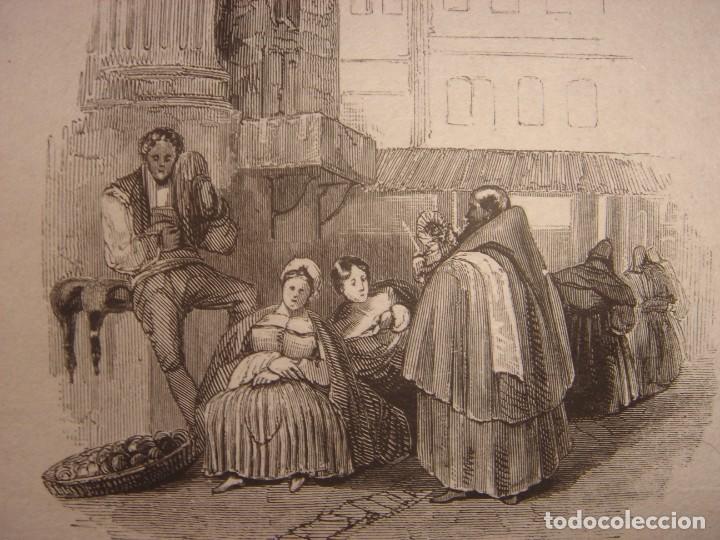 Arte: INFRECUENTE XILOGRAFÍA PLAZA BIRRAMBLA, GRANADA, ORIGINAL, 1835, DAVID ROBERTS, 1ªEDICIÓN. - Foto 5 - 139611526
