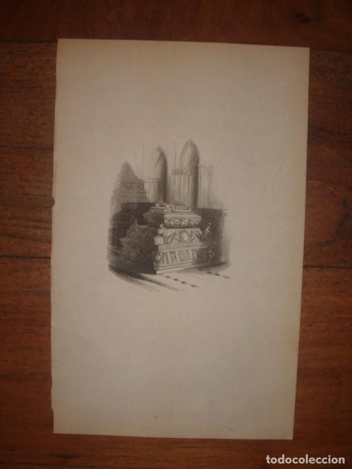 Arte: INFRECUENTE XILOGRAFÍA TUMBA REYES CATÓLICOS, GRANADA, ORIGINAL, 1835, DAVID ROBERTS, 1ªEDICIÓN. - Foto 2 - 139611690