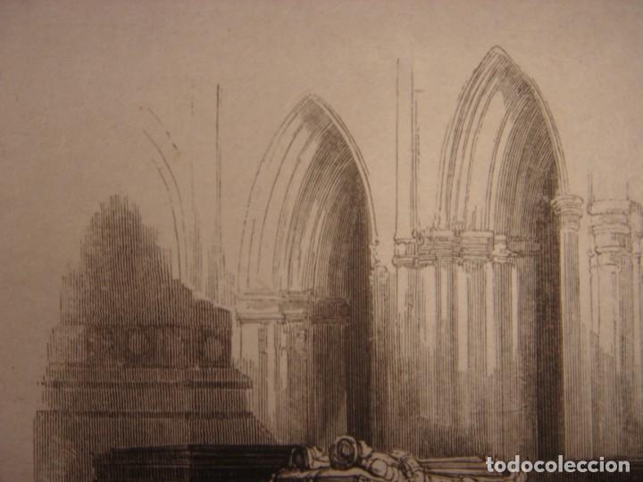 Arte: INFRECUENTE XILOGRAFÍA TUMBA REYES CATÓLICOS, GRANADA, ORIGINAL, 1835, DAVID ROBERTS, 1ªEDICIÓN. - Foto 3 - 139611690