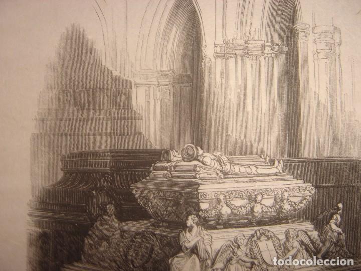 Arte: INFRECUENTE XILOGRAFÍA TUMBA REYES CATÓLICOS, GRANADA, ORIGINAL, 1835, DAVID ROBERTS, 1ªEDICIÓN. - Foto 4 - 139611690