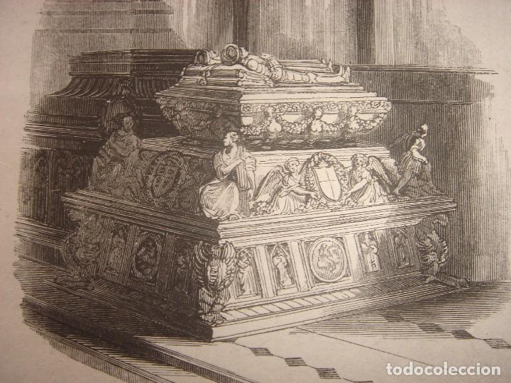 Arte: INFRECUENTE XILOGRAFÍA TUMBA REYES CATÓLICOS, GRANADA, ORIGINAL, 1835, DAVID ROBERTS, 1ªEDICIÓN. - Foto 5 - 139611690