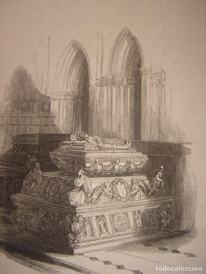 Arte: INFRECUENTE XILOGRAFÍA TUMBA REYES CATÓLICOS, GRANADA, ORIGINAL, 1835, DAVID ROBERTS, 1ªEDICIÓN. - Foto 6 - 139611690