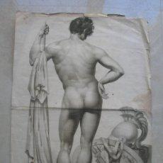 Arte: SOLAT AU REPOS.GRABADO FRANCÉS SIGLO XIX.TAMAÑO: 58 X 40 CTMS.. Lote 139643454