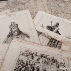 Arte: LOTE DE 19 GRABADOS DE LEMAITRE Y 2 MAPAS DEL ATLAS DE DUSSIEUX: GERMANIA - ALEMANIA. Lote 139766550