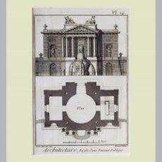 Arte: 1779 ARQUITECTURA - DIDEROT - GRABADO CON PASSEPARTOUT DOBLE 26. Lote 139886474
