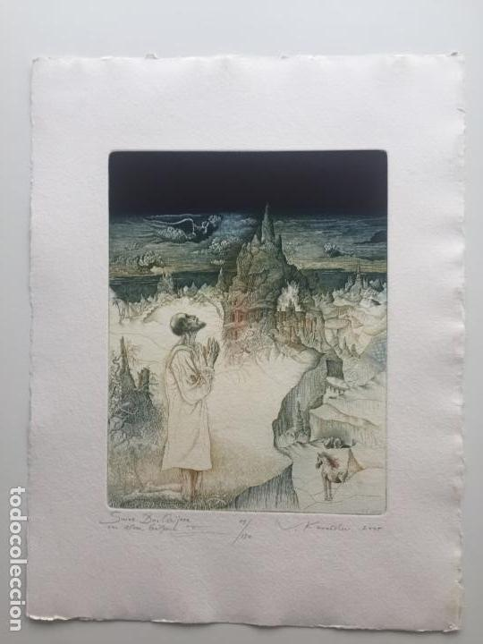 Arte: VALENTIN KOVATCHEV AGUAFUERTE FIRMADO Y TITULADO MALAGA ETERNA III DEL AÑO 1994 - Foto 2 - 139940310