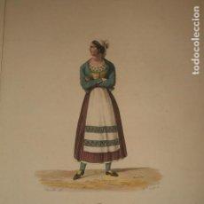 Arte: VALLE DEL PAS CANTABRIA BURGOS MUJER PASIEGA GRABADO HACIA 1800 CHASSELAT Y COUET. Lote 139957638