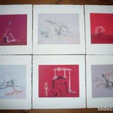 Arte: ANTONIO LORENZO, LOTE DE 6 GRABADOS AGUAFUERTES DE 1969. Lote 140035610