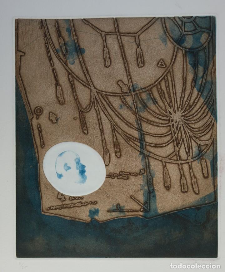 RAMON PUJOL BOIRA (1949) GRABADO AL AGUAFUERTE 11/25 COMPOSICIÓN FIRMADA A LÁPIZ (Arte - Grabados - Contemporáneos siglo XX)