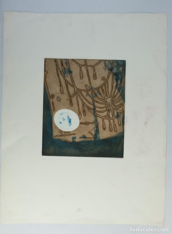 Arte: Ramon Pujol Boira (1949) Grabado al aguafuerte 11/25 Composición firmada a lápiz - Foto 2 - 140088894