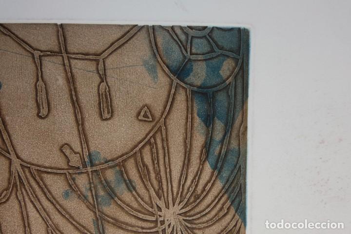 Arte: Ramon Pujol Boira (1949) Grabado al aguafuerte 11/25 Composición firmada a lápiz - Foto 3 - 140088894