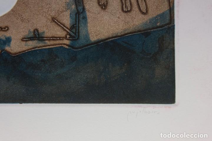 Arte: Ramon Pujol Boira (1949) Grabado al aguafuerte 11/25 Composición firmada a lápiz - Foto 6 - 140088894