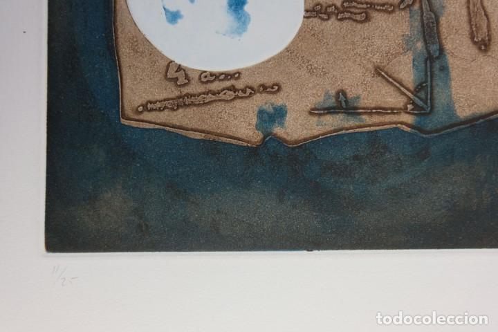 Arte: Ramon Pujol Boira (1949) Grabado al aguafuerte 11/25 Composición firmada a lápiz - Foto 9 - 140088894
