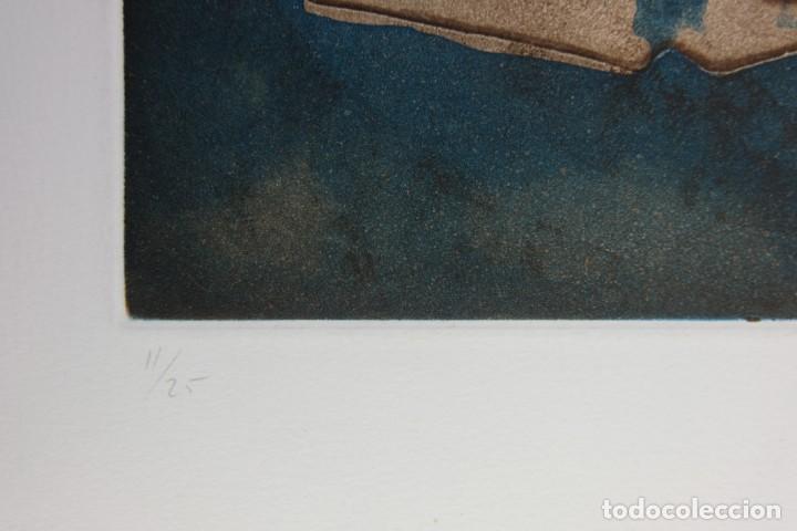 Arte: Ramon Pujol Boira (1949) Grabado al aguafuerte 11/25 Composición firmada a lápiz - Foto 10 - 140088894